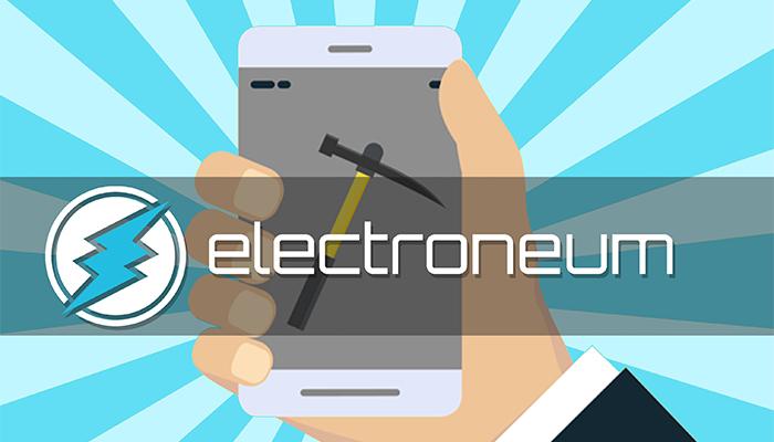 ماین الکترونیوم با موبایل